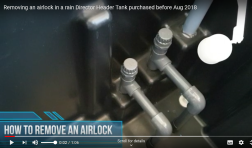 How to remove an airlock