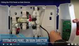 Video: Fitting the PCB Panel to the Rain Director